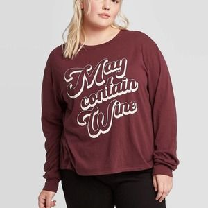 Zoe & Liv May Contain Wine Graphic  Shirt
